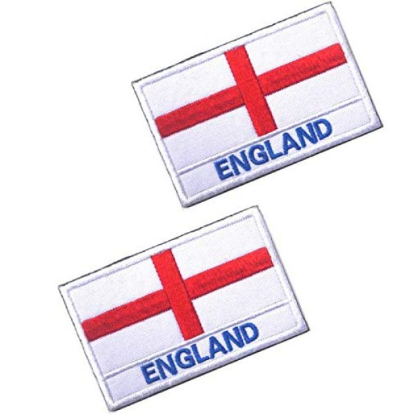 Tactical Embroidery Patch Airsoft Morale Patch 1 2pcs England Flag Embroidery Patch Military Tactical Morale Patch Badges Emblem Applique Hook Patches for Clothes Backpack Accessories