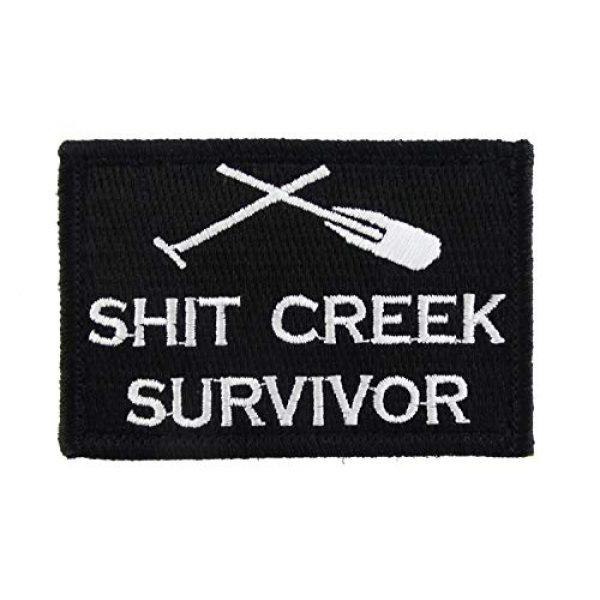 TrendyLuz USA Airsoft Morale Patch 1 TrendyLuz Shit Creek Survivor Morale Tactical Embroidered Hook & Loop Patch