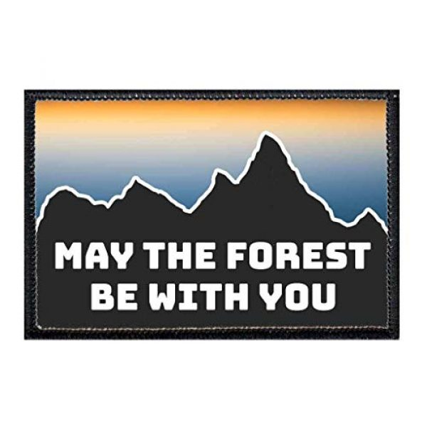 P PULLPATCH Airsoft Morale Patch 1 May The Forest Be with You Morale Patch | Hook and Loop Attach for Hats, Jeans, Vest, Coat | 2x3 in | by Pull Patch