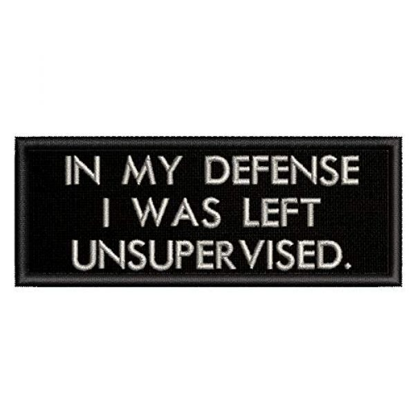 Appalachian Spirit Airsoft Morale Patch 1 in My Defense I was Left Unsupervised Patch - Embroidered Morale Patches Tactical Funny for Hat, Backpack, Jackets (Applique Fastener Iron On)