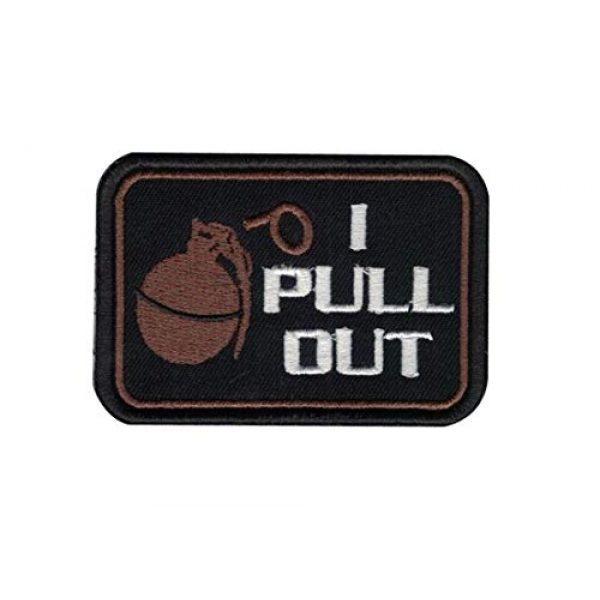 HOMMALAI Airsoft Morale Patch 1 B71 I Pull Out The Grenade Funny Funny Saying Military Embroidered Morale Patch Hook Backing 3X2 inch (Color A)