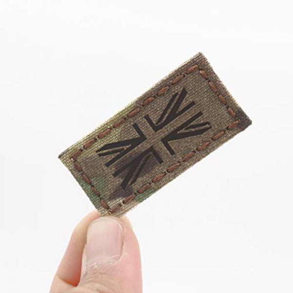 Tactical Freaky Airsoft Morale Patch 1 Tiny 1x2 IR Multicam Union Jack UK MTP Army British Army Tactical Morale Touch Fastener Patch