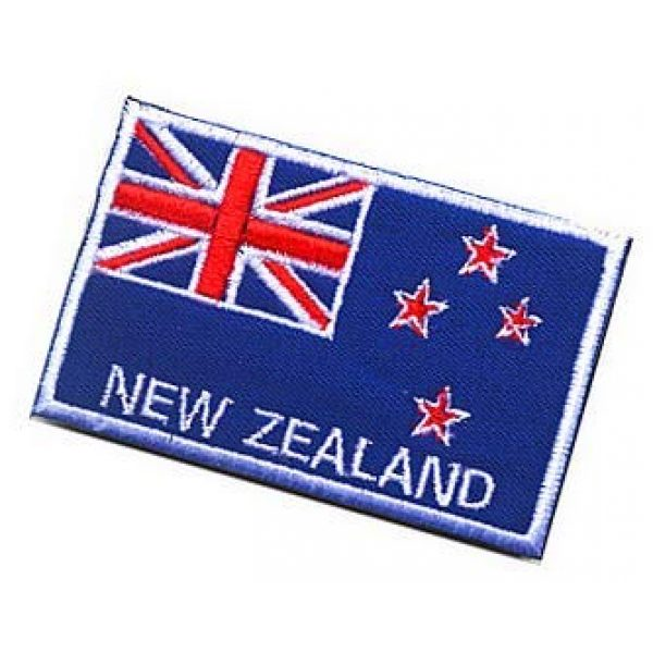 Embroidery Patch Airsoft Morale Patch 3 New Zealand Flag Patch Military Hook Loop Tactics Morale Embroidered Patch