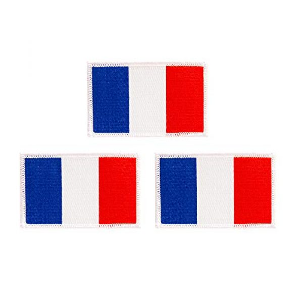 Desert Cactus Airsoft Morale Patch 1 France Flag Patch Bulk 3-Pack 3.5Wx2.25H State Iron On Sew Embroidered Tactical Morale Back Pack Hat Bags French (3-Pack Patch)