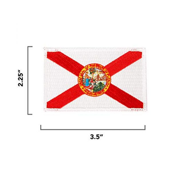 Desert Cactus Airsoft Morale Patch 2 Florida Flag Patch 3.5 inch x 2.25 inch Iron On Sew Embroidered Tactical Backpack Hat Bags Caps Jackets Pants (Single Patch)