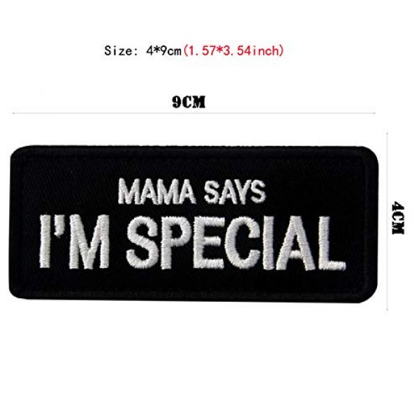 LanXin Airsoft Morale Patch 2 2 Pieces Mama Says I'm Special Embroidery Patch Military Morale Patch Tactical Emblem Badges Appliques Embroidered Patches - Hook and Loop Fasteners Backing Patches