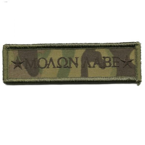 Gadsden and Culpeper Airsoft Morale Patch 1 MULTICAM Molon Labe Morale Tactical Patch