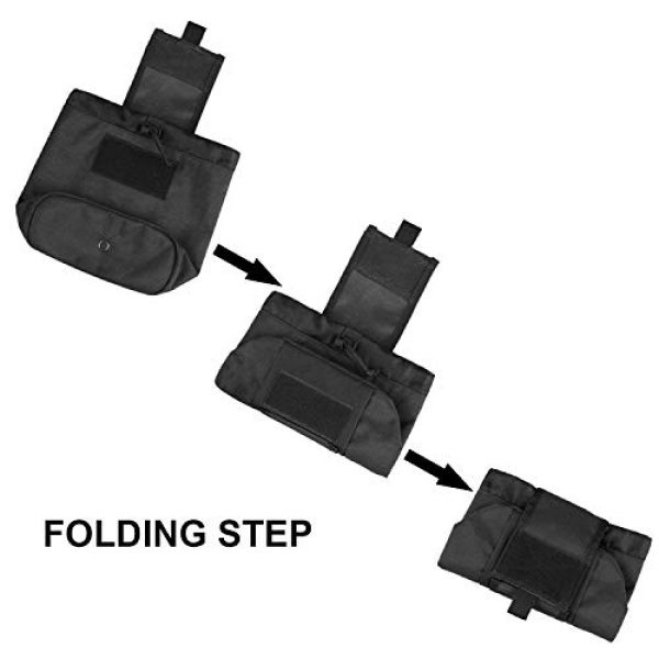 AMYIPO Tactical Pouch 6 AMYIPO Folding Tactical Molle Drawstring Magazine Dump Pouch, Military Adjustable Belt Utility Hip Holster Bag Outdoor Mag Pouch