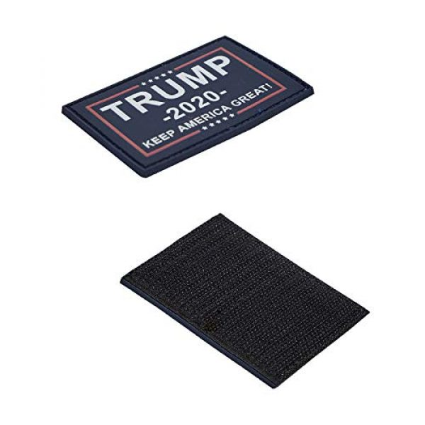 GentleGirl.USA Airsoft Morale Patch 3 GentleGirl.USA US American 2020 Donald Trump President Flags Patch with Velcro, USA Donald Trump Flags Personality Tactical PVC Hook Patch,Suitable for Military Clothes, Hats, Tactical Bags, Jackets