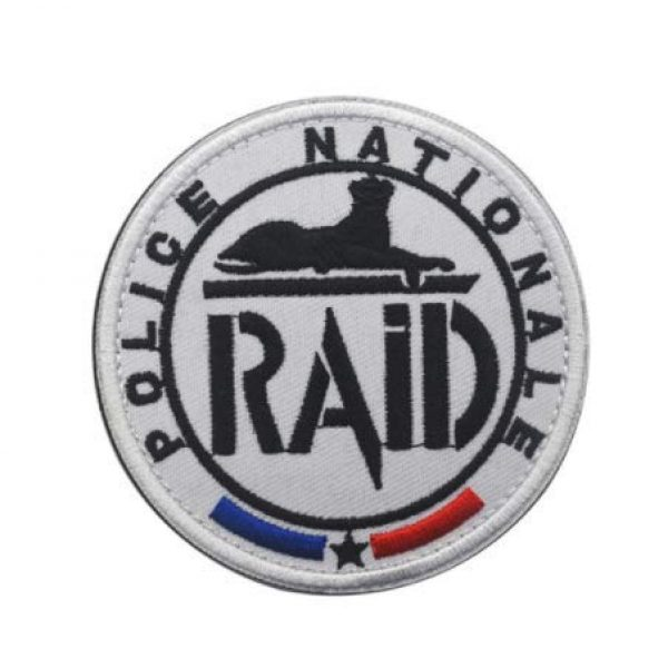 Tactical Embroidery Patch Airsoft Morale Patch 1 France Raid Flag Embroidery Patch Military Tactical Morale Patch Badges Emblem Applique Hook Patches for Clothes Backpack Accessories