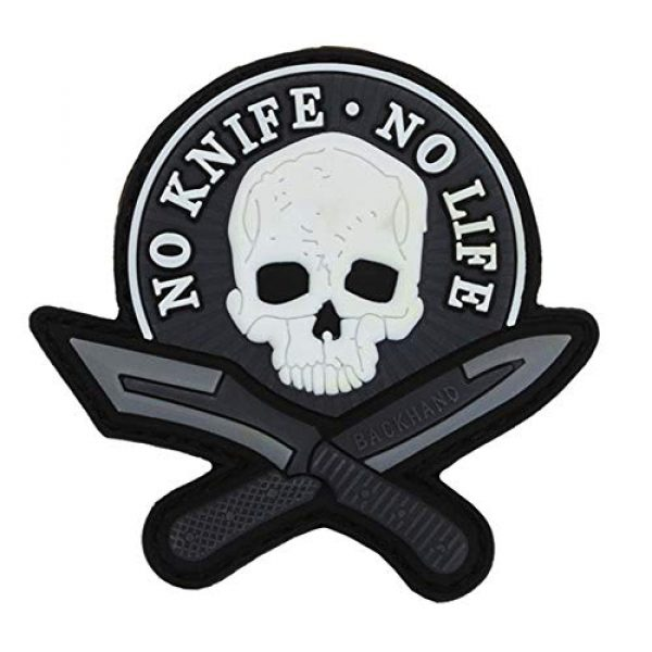 EEC Airsoft Morale Patch 1 EEC Tactical Morale Dagger & Skull PVC Patch