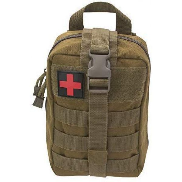 ASATechmed Tactical Pouch 2 ASATechmed Tactical Military MOLLE EMT First Aid IFAK Utility Medical Pouch Plus Free Matching Color EMT Shears Ideal Gift for First Responder, EMT, Paramedics, Soldiers, Police and Many More