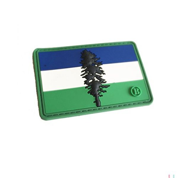 BritKitUSA Airsoft Morale Patch 1 3d PVC Cascadia Flag Morale 3x2 Inch Patch