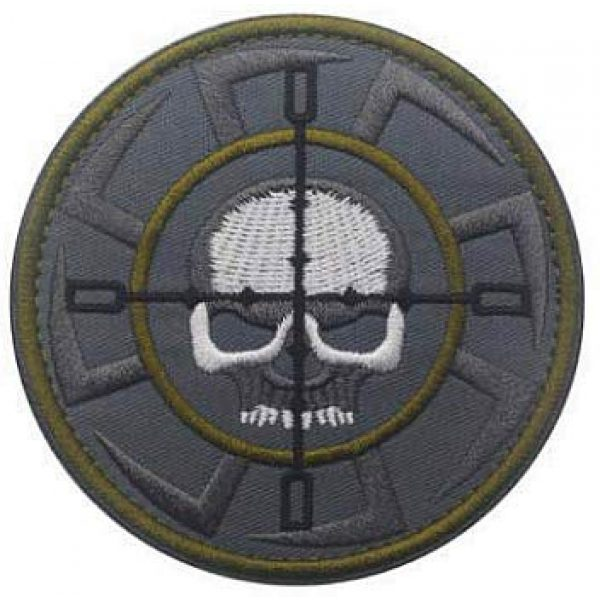 Embroidery Patch Airsoft Morale Patch 1 Russia FSB, ALFA Team Kolovrat Skull Military Hook Loop Tactics Morale Embroidered Patch