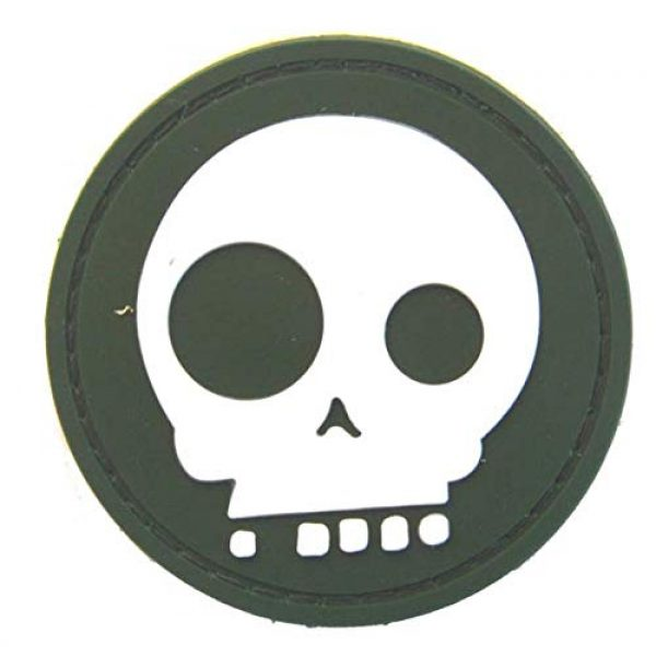 Tactical PVC Patch Airsoft Morale Patch 2 2pcs Big & Small Eyes Skull PVC Military Tactical Morale Patch Badges Emblem Applique Hook Patches for Clothes Backpack Accessories