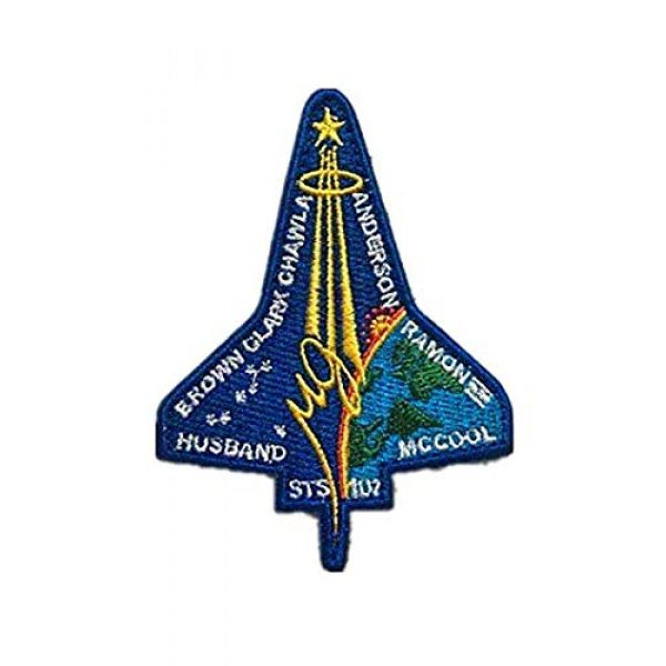Embroidery Patch Airsoft Morale Patch 1 NASA Space Shuttle Columbia STS-107 Military Hook Loop Tactics Morale Embroidered Patch