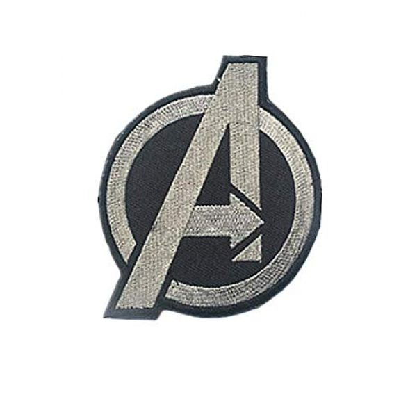Embroidery Patch Airsoft Morale Patch 1 Marvel Comics Avengers Classic 'A' Logo Military Hook Loop Tactics Morale Embroidered Patch
