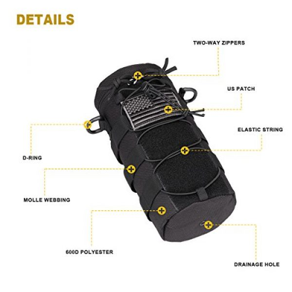 AMYIPO Tactical Pouch 3 AMYIPO Water Bottle Pouch Molle Tactical Holder Storage Bag for 32oz Carrier