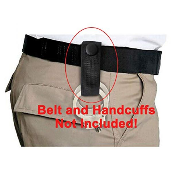 """Aolamegs Tactical Pouch 6 Aolamegs (2 Pack Nylon Handcuff Strap Holder,Handcuff Case,Single Snap,Slide-On fits 2 1/4"""" in Belts,Black,"""