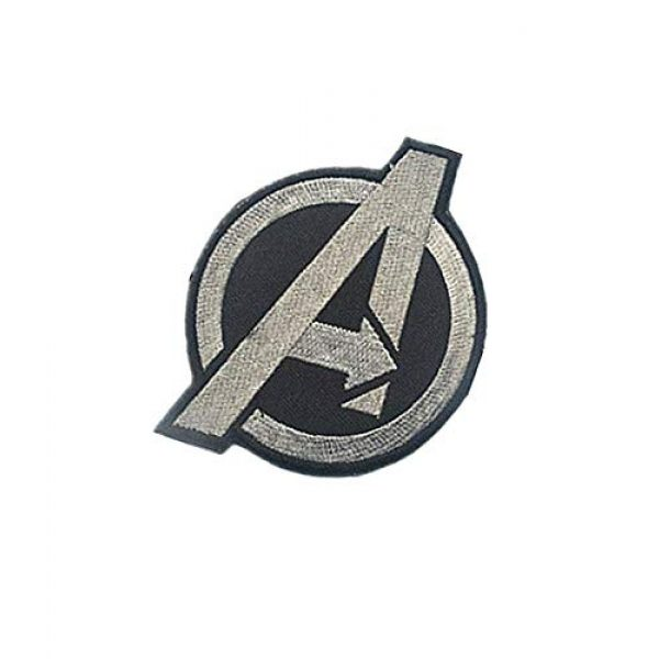 Embroidery Patch Airsoft Morale Patch 3 Marvel Comics Avengers Classic 'A' Logo Military Hook Loop Tactics Morale Embroidered Patch