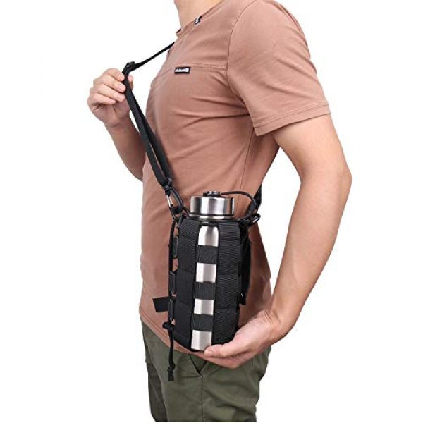 ATBP Tactical Pouch 2 ATBP Tactical Water Bottle Pouch Holder Military Hydration Carrier Waist Fanny Pack for Molle Backpack Vest Bike Bottle Cage Bag