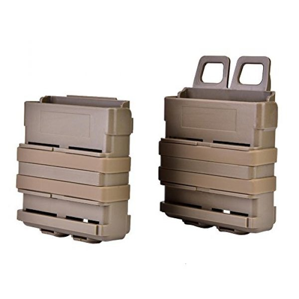 VGEBY Tactical Pouch 4 2Pcs Tactical Magazine Pouch Bag, Plastic Clip Mags Holder Set Quick Pull Box for Molle System Vest