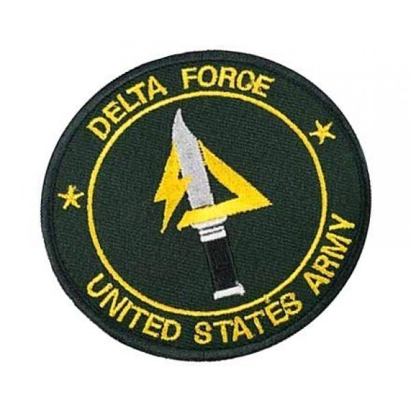 Embroidery Patch Airsoft Morale Patch 2 US Delta Forces Military Hook Loop Tactics Morale Embroidered Patch