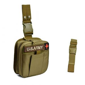 JFFCE Tactical Pouch 1 JFFCE Tactical Drop Leg Medical MOLLE Pouch Bag Emergency Kit First Aid Kit Tool Thigh Fanny Pack for Hikers, Campers, and Other Outdoor Enthusiasts to Carry First aid Supplies