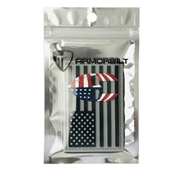 Armorbilt Airsoft Morale Patch 5 USA Flag with Spartan Helmet (Molon Labe) 3D PVC Rubber Morale Patch, Represent American Pride, Perfect for Tactical Operator Caps, Hats, Jackets, Bags, Packs and Military Apparel