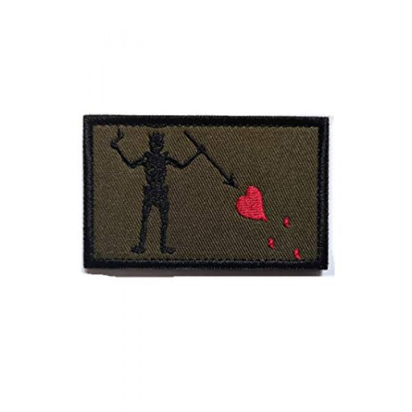 Embroidery Patch Airsoft Morale Patch 2 2 Pieces Jolly Roger Skull Blackbeard Pirate Flag Military Hook Loop Tactics Morale Embroidered Patch (color3)