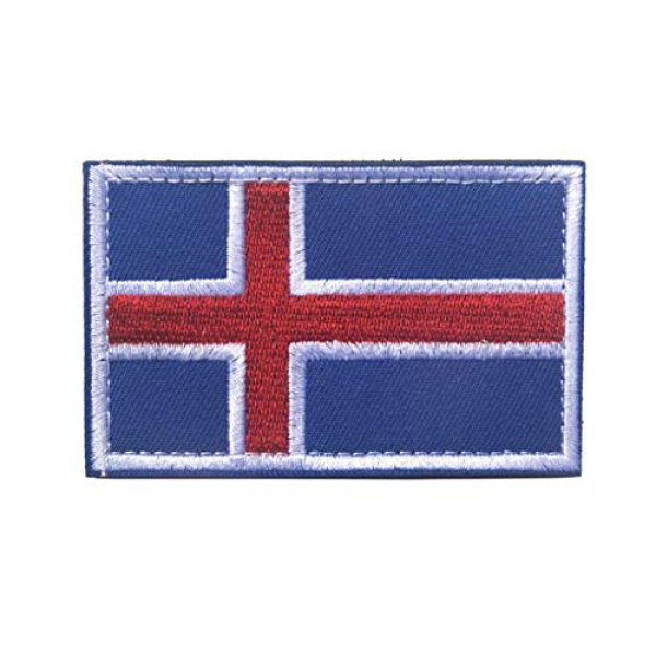 Tactical Embroidery Patch Airsoft Morale Patch 3 2pcs Iceland Flag Embroidery Patch Military Tactical Morale Patch Badges Emblem Applique Hook Patches for Clothes Backpack Accessories