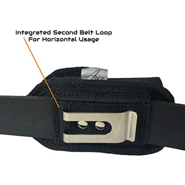 """AGOZ Tactical Pouch 7 AGOZ Military Grade Belt Clip Pouch Case Holster Compatible with Car Key Remote FOB, Inhaler, Pepper Spray, Mace, Narcan, Small Blade Knife, Small Hand Sanitizer 4.3""""x2.2""""x1"""""""