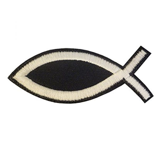 LEGEEON Airsoft Morale Patch 2 LEGEEON Glow Dark Ichthys Jesus Fish Christian ISAF Ichthus Morale Sew Iron on Patch