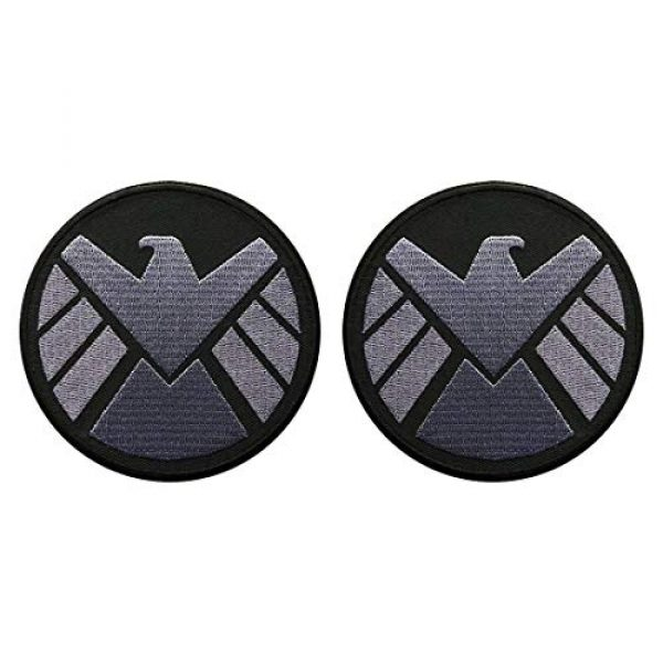 Miltacusa Airsoft Morale Patch 1 Avengers Movie Shield Logo Costume Shoulder Patch Set of 2 (3.5 INCH - AV-7)