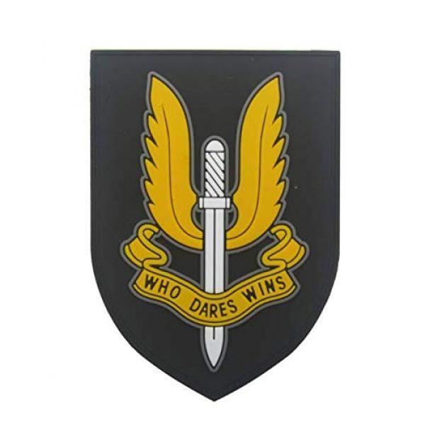 Tactical PVC Patch Airsoft Morale Patch 1 British Special Air Service Exquisite Regiment Special Forces SAS PVC Military Tactical Morale Patch Badges Emblem Applique Hook Patches for Clothes Backpack Accessories