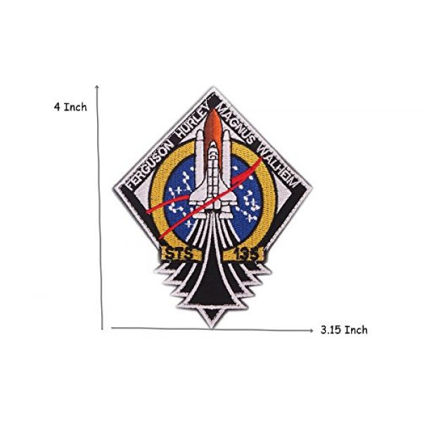 VOZUKO Airsoft Morale Patch 4 VOZUKO Morale Patch USA NASA Astronaut Space 3D Embroidered Flight Space Explorer Research Combination Badge Patch