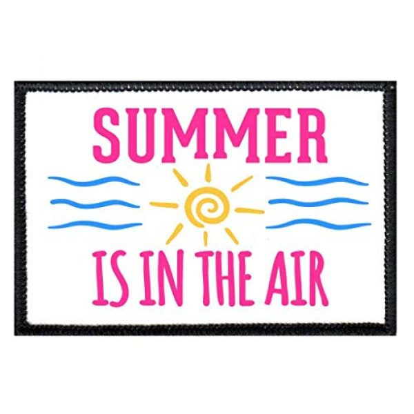 P PULLPATCH Airsoft Morale Patch 1 Summer is in The Air Morale Patch | Hook and Loop Attach for Hats, Jeans, Vest, Coat | 2x3 in | by Pull Patch