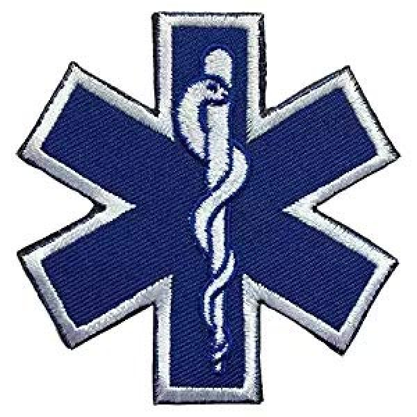 Antrix Airsoft Morale Patch 2 Antrix 5 Pieces US USA Flag/EMT Star of Life EMT EMS Paramedic Medic Medical Aid Cross Patch Military Badge Emblem Medical Care Patch Hook & Loop Tactical America Medic Emblem Military Patches
