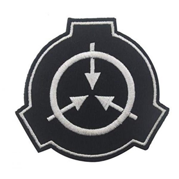 Embroidered Patch Airsoft Morale Patch 1 Special Containment Procedures Foundation SCP Foundation Logo 3D Tactical Patch Military Embroidered Morale Tags Badge Embroidered Patch DIY Applique Shoulder Patch Embroidery Gift Patch