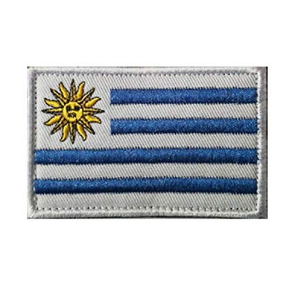 Tactical Embroidery Patch Airsoft Morale Patch 1 Uruguay Flag Embroidery Patch Military Tactical Morale Patch Badges Emblem Applique Hook Patches for Clothes Backpack Accessories