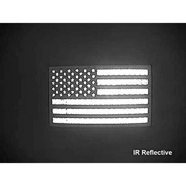 """Hannah Fit Airsoft Morale Patch 4 2x3.5"""" Infrared IR US USA American Flag Patch Tactical Vest Patch Hook-Fastener Backing(1 Left + 1 Right (Coyote Brown Tan)"""