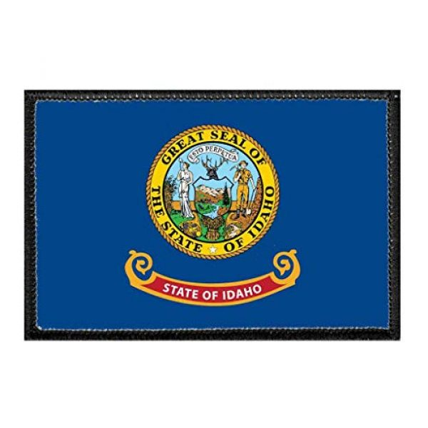 P PULLPATCH Airsoft Morale Patch 1 Idaho State Flag - Color Morale Patch | Hook and Loop Attach for Hats, Jeans, Vest, Coat | 2x3 in | by Pull Patch
