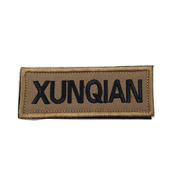 XUNQIAN Airsoft Morale Patch 1 XUNQIAN American Dog Tracker Paw Embroidered Applique Morale Hook & Loop Patch