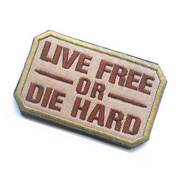 Embroidery Patch Airsoft Morale Patch 3 Live Free Or Die Hard Military Hook Loop Tactics Morale Embroidered Patch (color2)
