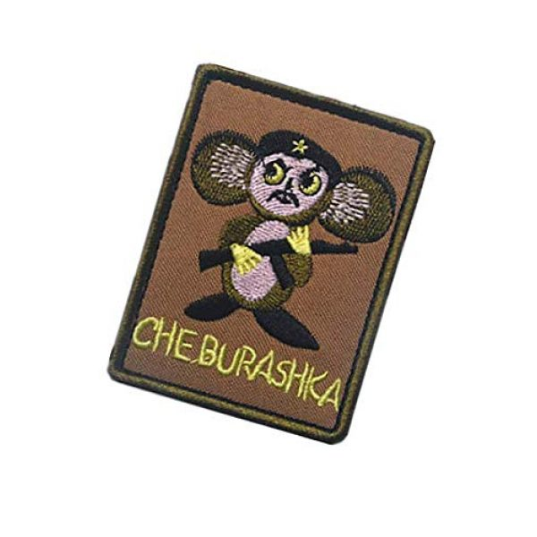 Embroidery Patch Airsoft Morale Patch 3 Russian POCCNR Cheburashka Military Hook Loop Tactics Morale Patch Embroidered Patch