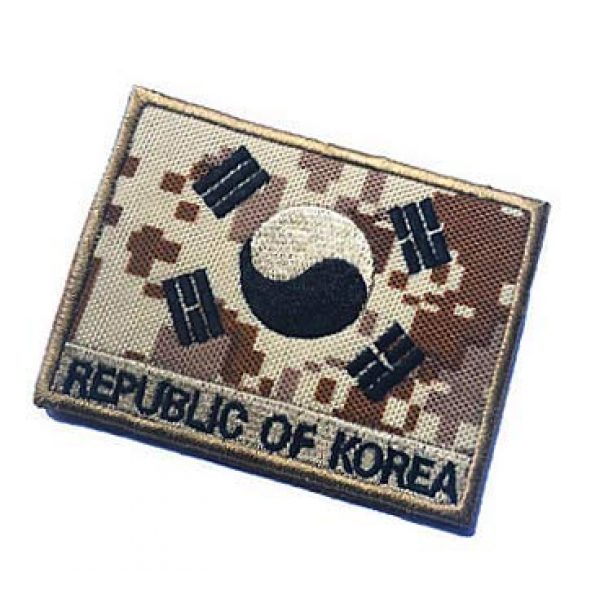 Embroidery Patch Airsoft Morale Patch 3 South Korean Flag Military Hook Loop Tactics Morale Embroidered Patch (color4)
