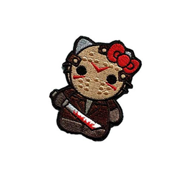 Embroidery Patch Airsoft Morale Patch 3 Hello Kitty As Warrior Military Hook Loop Tactics Morale Embroidered Patch
