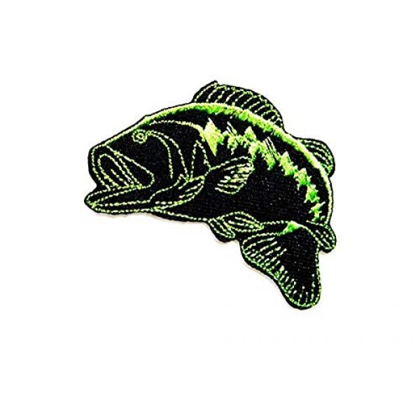 W Expert (ship with tracking) Airsoft Morale Patch 1 Bass Fishing sport Fish Lure Hook patch Iron on Logo Vest Jacket cap Hoodie Backpack Patch Iron On/sew on patch