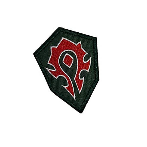 Embroidery Patch Airsoft Morale Patch 2 World of Warcraft Horde Military Hook Loop Tactics Morale Embroidered Patch (color2)