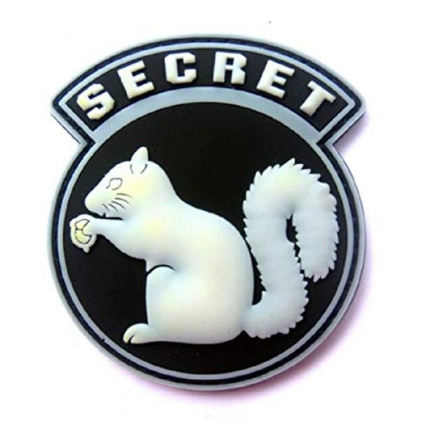 Tactical PVC Patch Airsoft Morale Patch 1 Black Ops Covert Top Secret Squirrel PVC Military Tactical Morale Patch Badges Emblem Applique Hook Patches for Clothes Backpack Accessories